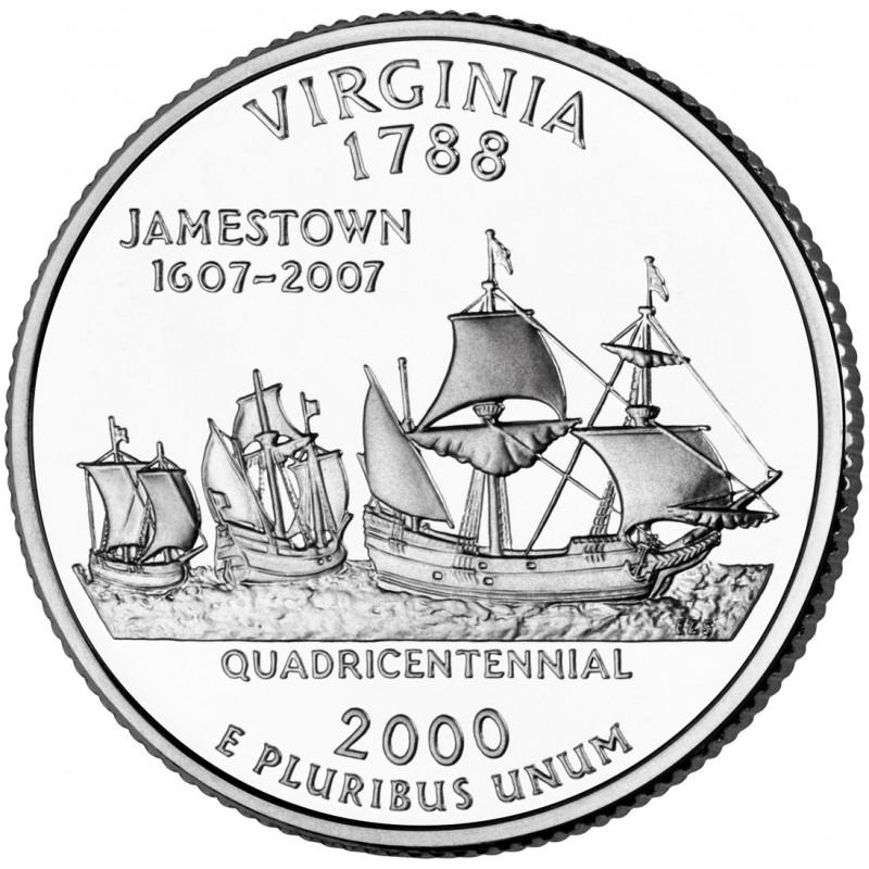 2000-D Virginia State Quarter