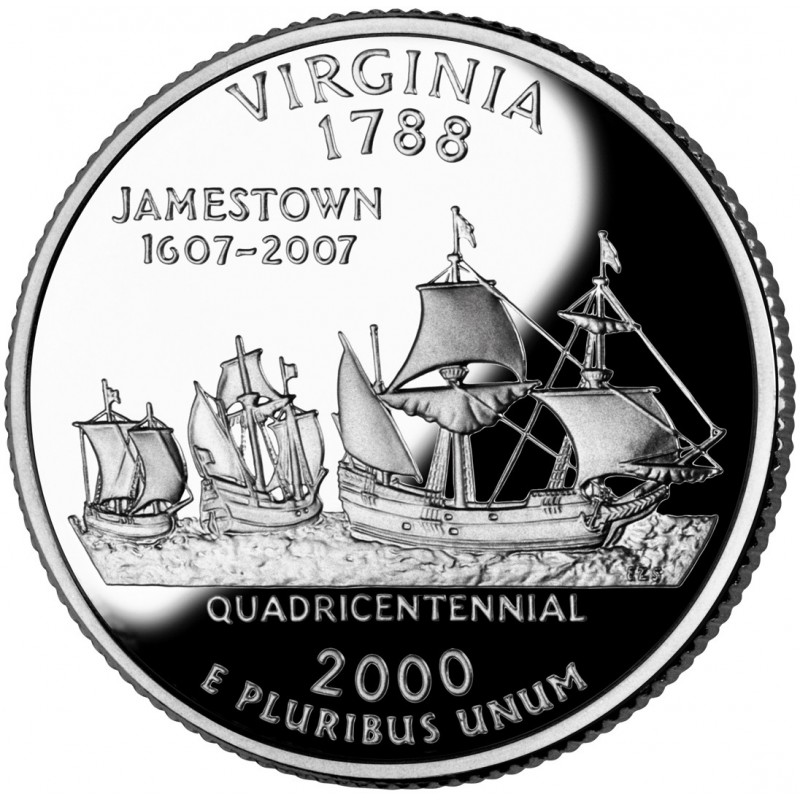 2000-S Virginia Silver Proof State Quarter