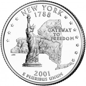 2001-P New York State Quarter