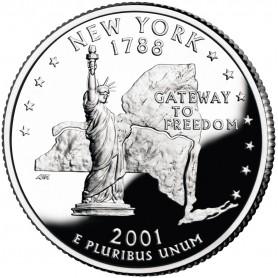 2001-S New York Proof State Quarter