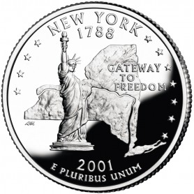 2001-S New York Silver Proof State Quarter