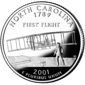 2001-S North Carolina Silver Proof State Quarter