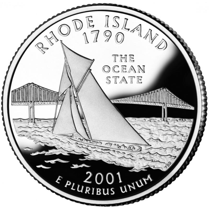 2001-S Rhode Island Proof State Quarter