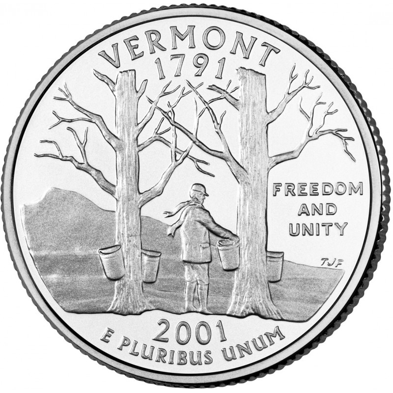 2001-P Vermont State Quarter