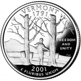 2001-S Vermont Silver Proof State Quarter