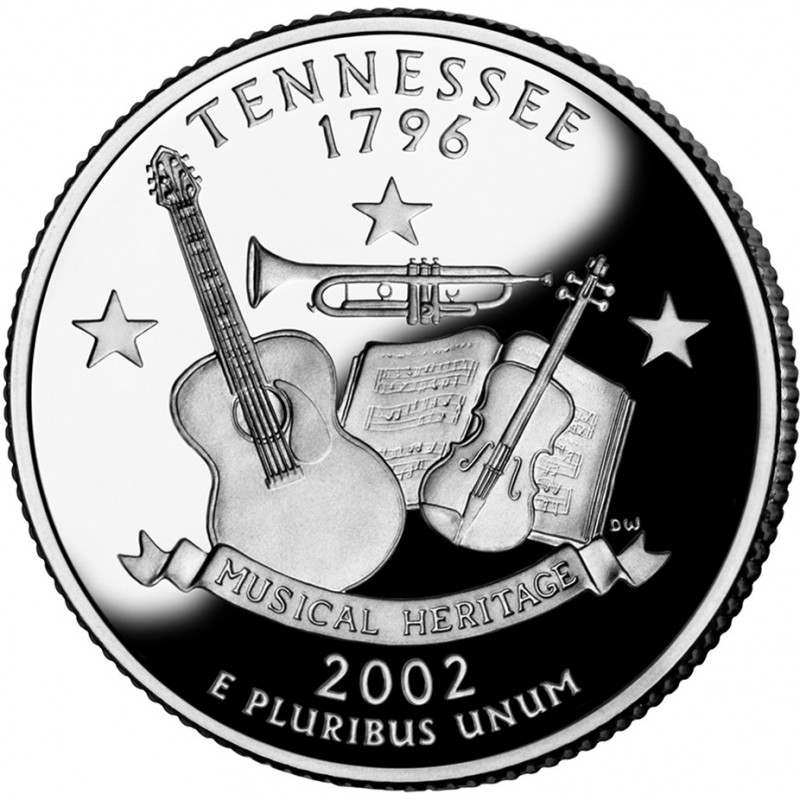 2002-S Tennessee Proof State Quarter