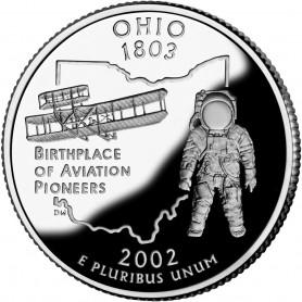 2002-S Ohio Silver Proof State Quarter