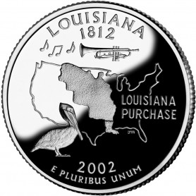 2002-S Louisiana Silver Proof State Quarter