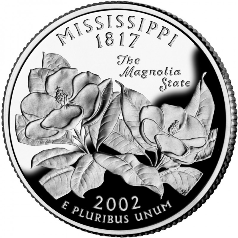2002-S Mississippi Silver Proof State Quarter