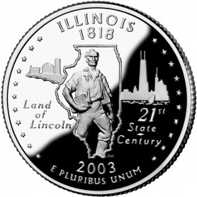 2003-S Illinois Silver Proof State Quarter
