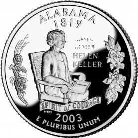 2003-S Alabama Silver Proof State Quarter