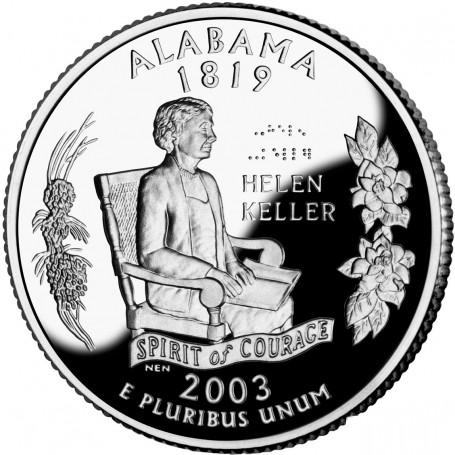 2003-S Alabama Silver Proof State Quarter