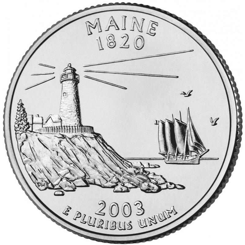 2003-D Maine State Quarter