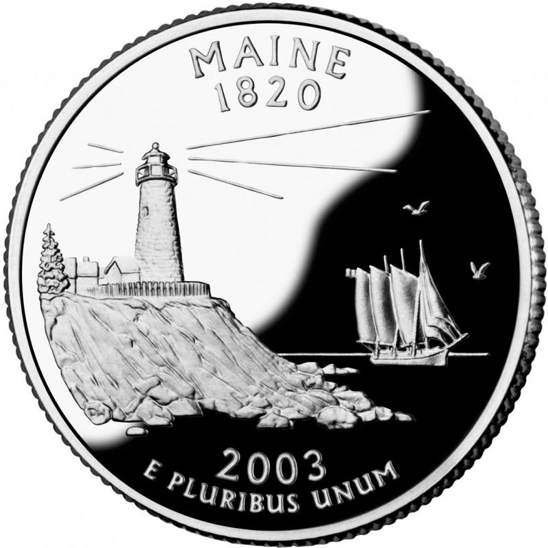 2003-S Maine Proof State Quarter
