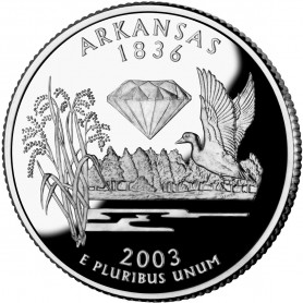 2003-S Arkansas Silver Proof State Quarter
