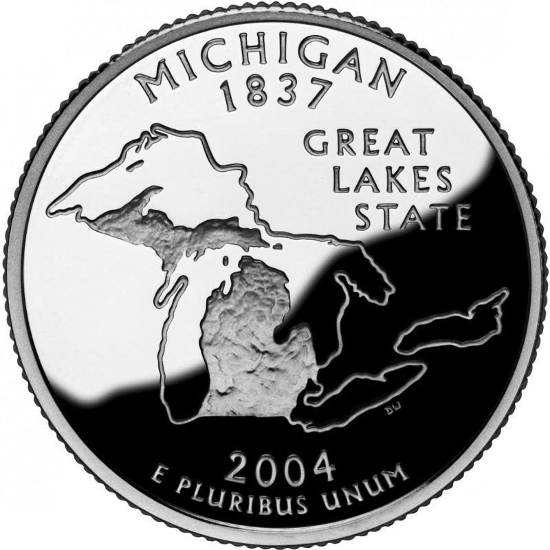 2004-S Michigan Silver Proof State Quarter