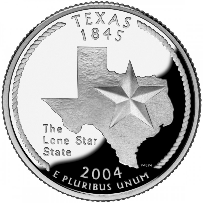 2004-S Texas Silver Proof State Quarter