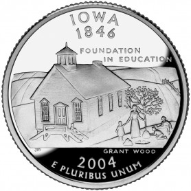 2004-S Iowa Silver Proof State Quarter