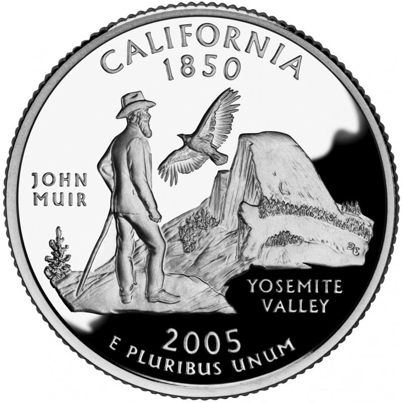 2005-S California Silver Proof State Quarter