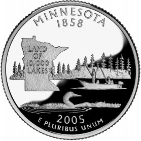 2005-S Minnesota Silver Proof State Quarter