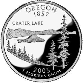 2005-S Oregon Silver Proof State Quarter