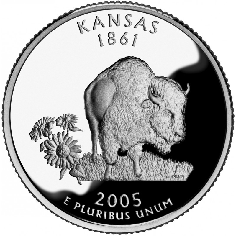 2005-S Kansas Silver Proof State Quarter