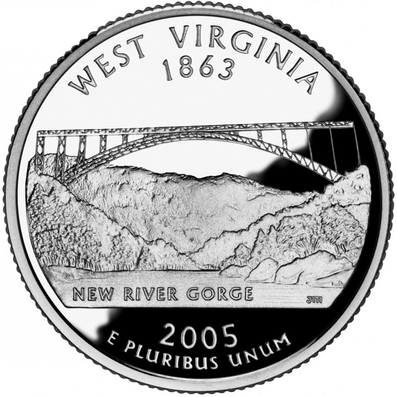 2005-S West Virginia Silver Proof State Quarter
