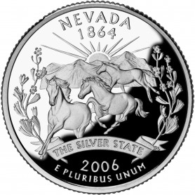 2006-S Nevada Silver Proof State Quarter