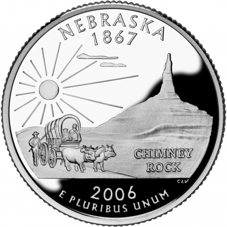 2006-S Nebraska Silver Proof State Quarter