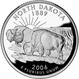 2006-S North Dakota Silver Proof State Quarter