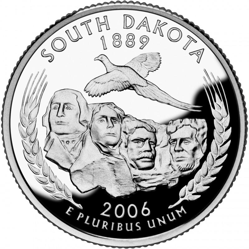 2006-S South Dakota Silver Proof State Quarter