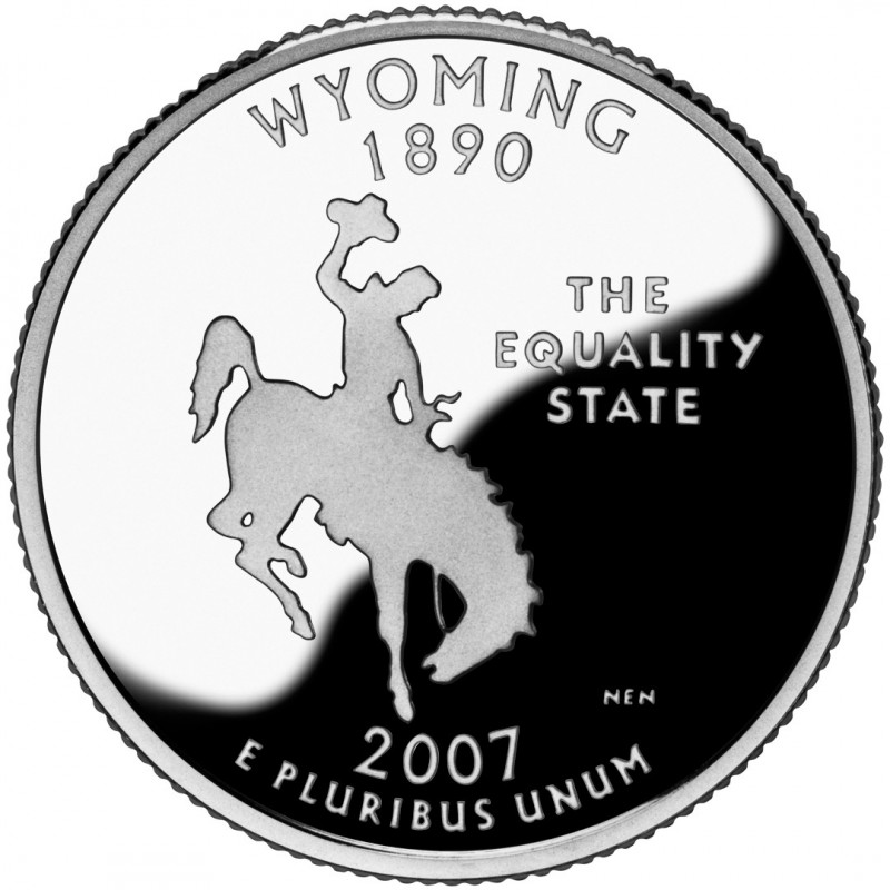 2007-S Wyoming Proof State Quarter