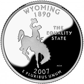 2007-S Wyoming Silver Proof State Quarter