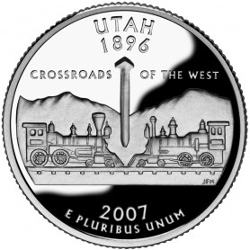 2007-S Utah Silver Proof State Quarter