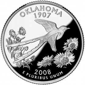 2008-S Oklahoma Silver Proof State Quarter