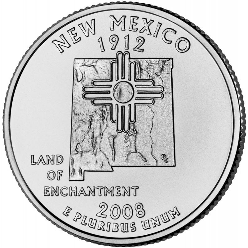 2008-P New Mexico State Quarter