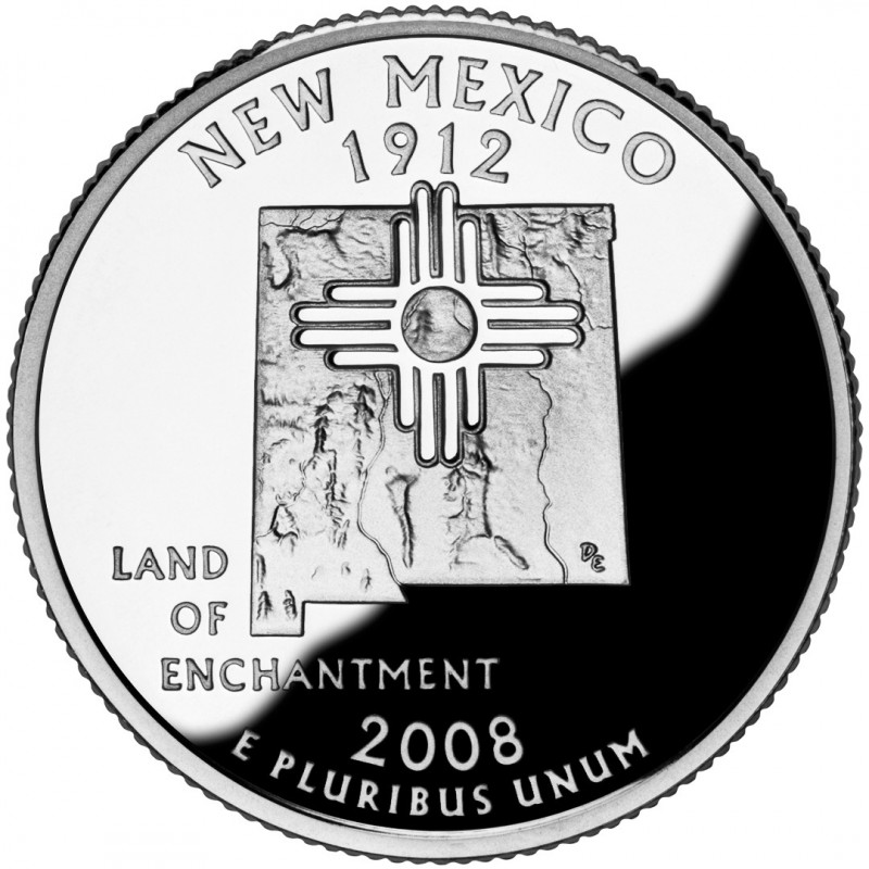 2008-S New Mexico Silver Proof State Quarter