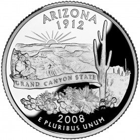 2008-S Arizona Silver Proof State Quarter