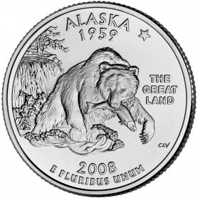 2008-P Alaska State Quarter