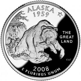 2008-S Alaska Silver Proof State Quarter