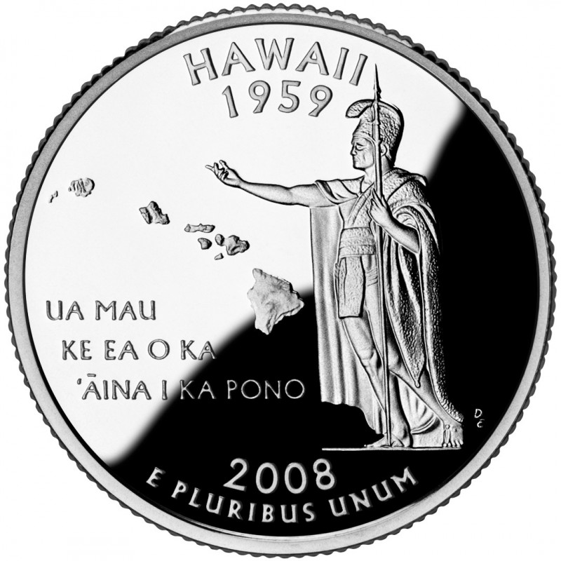2008-S Hawaii Silver Proof State Quarter
