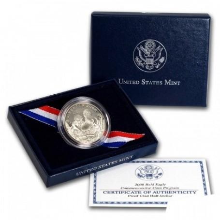 2008-S U.S. Mint Bald Eagle Commemorative Half Dollar CLAD Proof