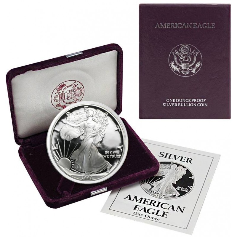 1991-S American Silver Eagle Proof 1 oz.