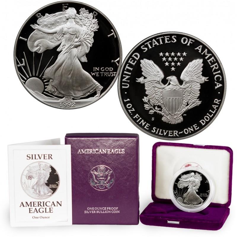 1992-S American Silver Eagle Proof 1 oz.