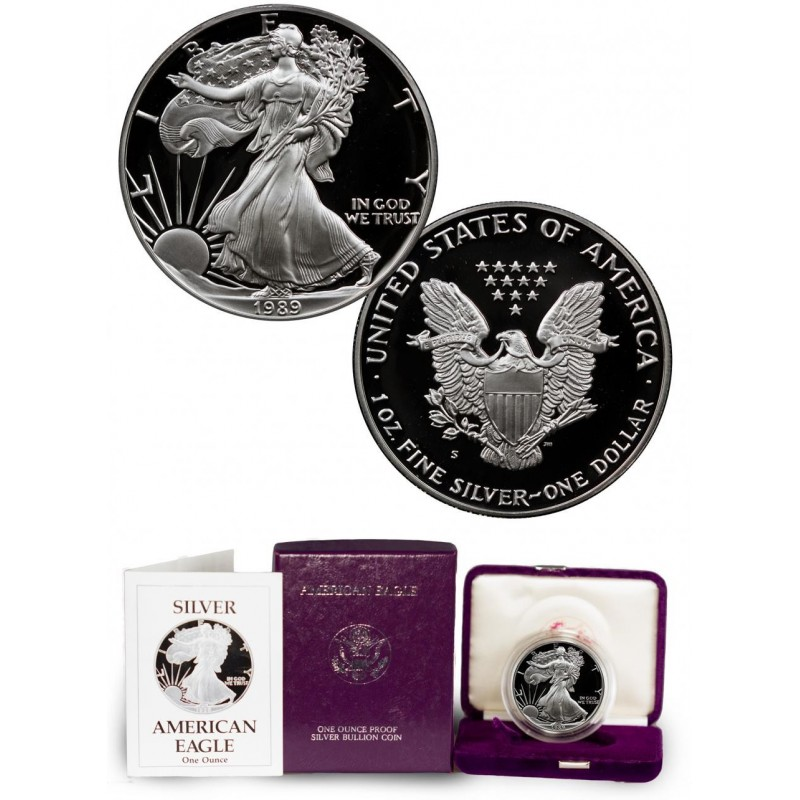 1989-S American Silver Eagle Proof 1 oz.
