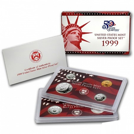 1999-S United States Mint Silver Proof Set KEY DATE Set