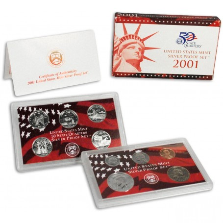 2001-S United States Mint Silver Proof Set