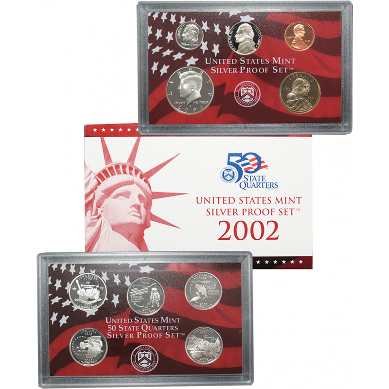 2002-S United States Mint Silver Proof Set