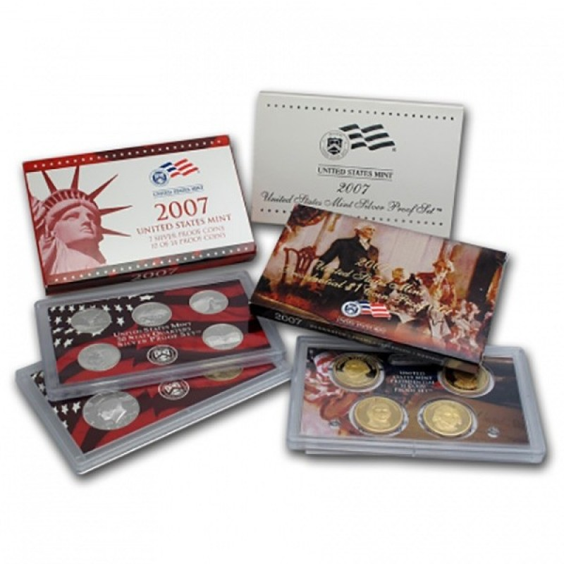 2007-S United States Mint Silver Proof Set