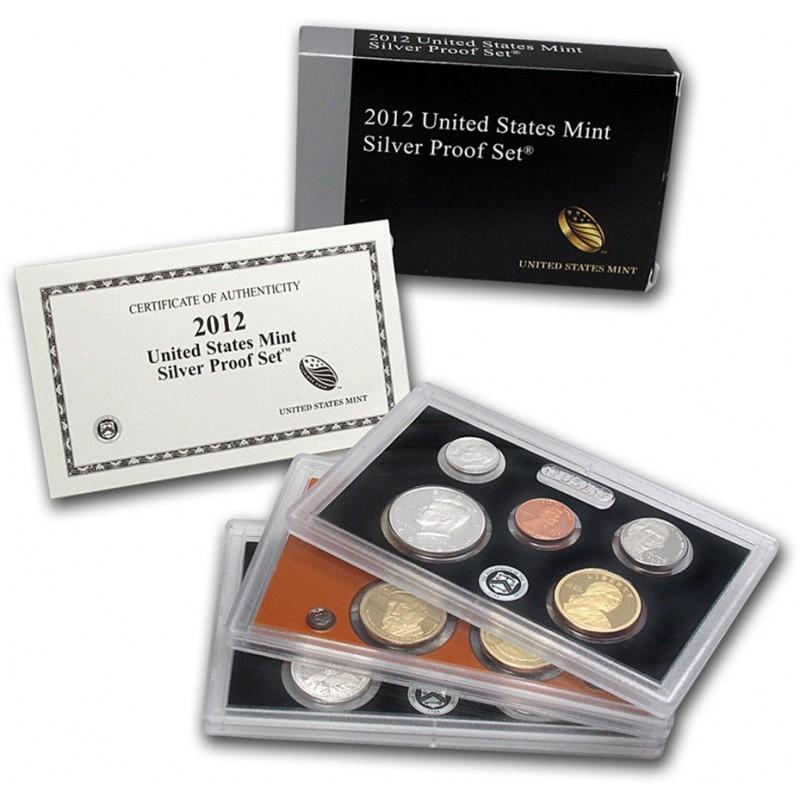 2012-S U.S. Mint Silver Proof Set KEY DATE Set